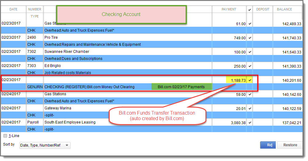 checking account register thinkleader